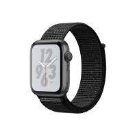 Apple Watch Nike+ Series 4 GPS, 44mm Space Gray Case Black Sport Loop