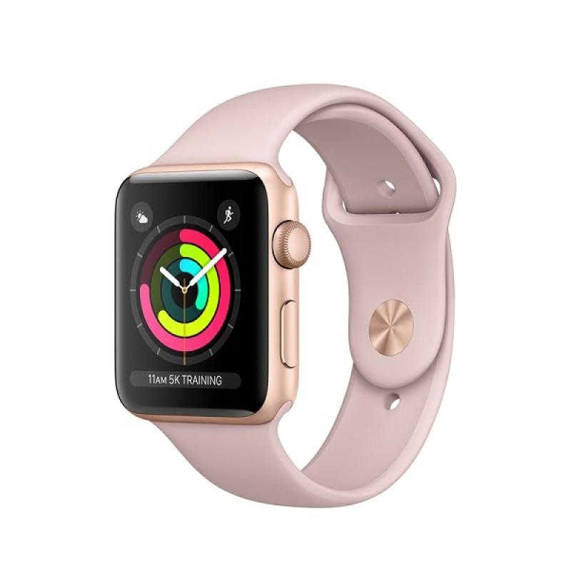 Apple Watch Series 3 GPS, 42mm Aluminium Gold Band Pink