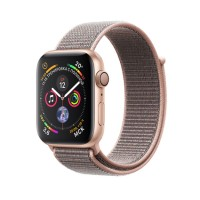 Apple Watch Series 4 GPS, 44mm Gold Aluminum Case With Pink Sand Sport Loop